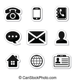 Contact Icons Set as labels