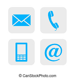contact, icons.