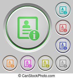 Contact information push buttons - Contact information color...