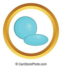 Contact lens vector icon