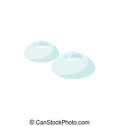Contact lenses icon, cartoon style