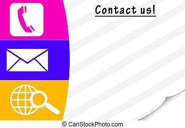contact, nous, carte
