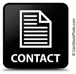 Contact (page icon) black square button