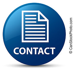 Contact (page icon) blue round button