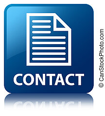 Contact (page icon) blue square button