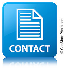 Contact (page icon) cyan blue square button