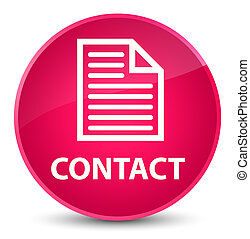 Contact (page icon) elegant pink round button