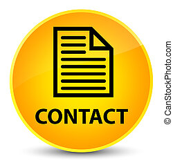 Contact (page icon) elegant yellow round button