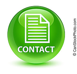 Contact (page icon) glassy green round button