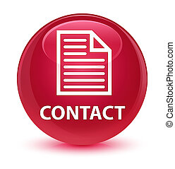 Contact (page icon) glassy pink round button