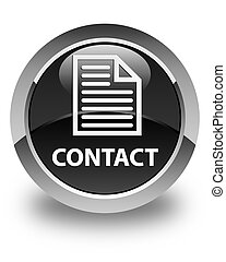 Contact (page icon) glossy black round button