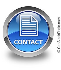 Contact (page icon) glossy blue round button
