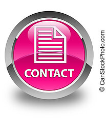 Contact (page icon) glossy pink round button