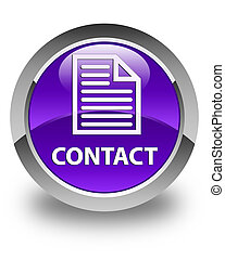 Contact (page icon) glossy purple round button