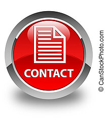 Contact (page icon) glossy red round button