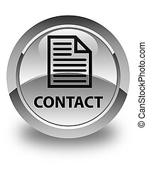 Contact (page icon) glossy white round button