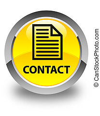 Contact (page icon) glossy yellow round button