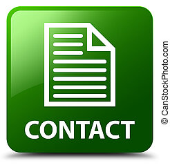 Contact (page icon) green square button