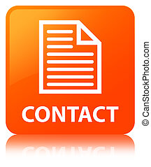 Contact (page icon) orange square button