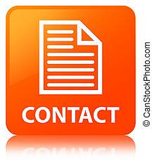 Contact (page icon) orange square button
