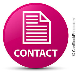 Contact (page icon) pink round button
