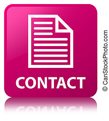 Contact (page icon) pink square button