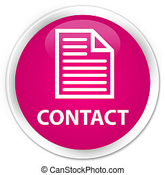 Contact (page icon) premium pink round button