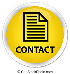 Contact (page icon) premium yellow round button