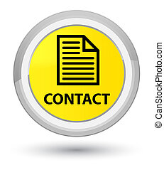 Contact (page icon) prime yellow round button