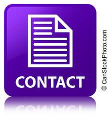Contact (page icon) purple square button