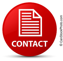 Contact (page icon) red round button