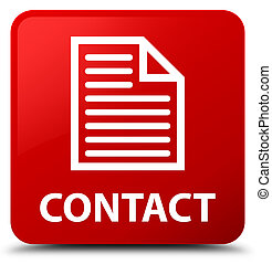 Contact (page icon) red square button