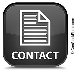 Contact (page icon) special black square button