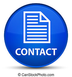 Contact (page icon) special blue round button