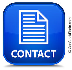 Contact (page icon) special blue square button