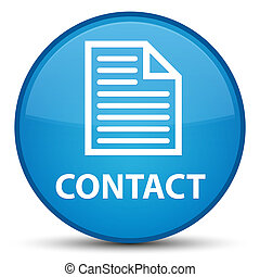Contact (page icon) special cyan blue round button