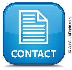 Contact (page icon) special cyan blue square button
