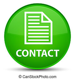 Contact (page icon) special green round button
