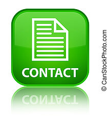 Contact (page icon) special green square button
