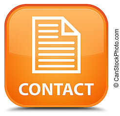 Contact (page icon) special orange square button