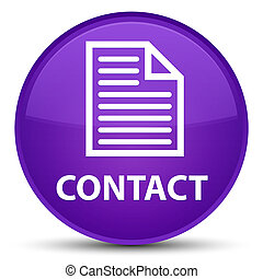 Contact (page icon) special purple round button