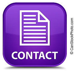 Contact (page icon) special purple square button