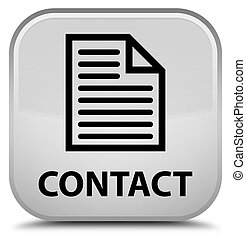 Contact (page icon) special white square button