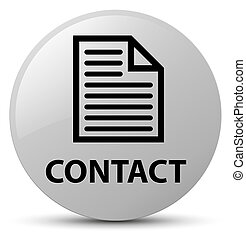 Contact (page icon) white round button