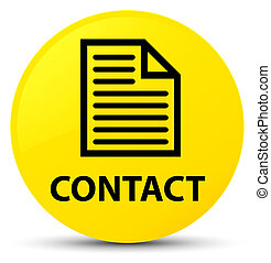 Contact (page icon) yellow round button