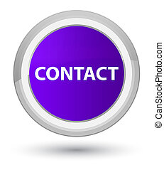 Contact prime purple round button - Contact isolated on ...