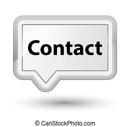 Contact prime white banner button