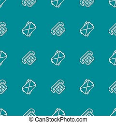 contact seamless pattern