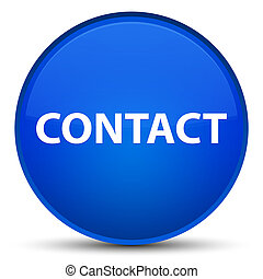 Contact special blue round button