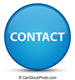 Contact special cyan blue round button